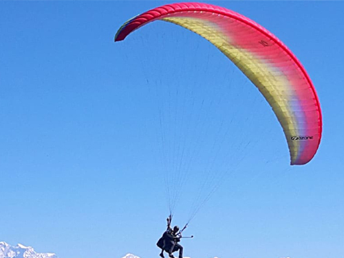 Nagarkot Paragliding for the view of Langtang and Mount Everest